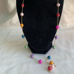 Kate Spade multicolored pearl bead necklace